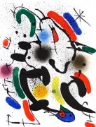"""Miro Lithographs Volume I – Lithograph VI"" 1972 by Joan Miro"