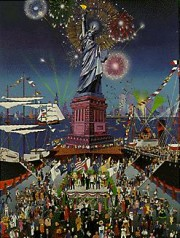 """Statue of Liberty Centennial"" Serigraph by Melanie Taylor Kent"