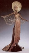 """L'Orientale"" a Bronze Sculpture by Erte"