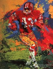"""End Around (Larry Brown)"" Serigraph by LeRoy Neiman"