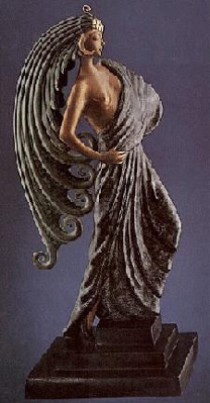 """""""Beauty and the Beast"""" Bronze Sculpture by Erte"""