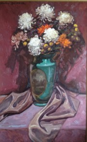 """The Chrysanthemums"" Original Oil on Canvas by Dulce Beatriz"