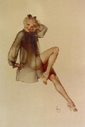 """Sleepy Time Gal"" Lithograph/Arches by Alberto Vargas"