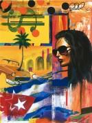 """Bandera Flag"" Original Acrylic on Canvas by Rick Garcia"