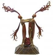 """Kiss of Fire"" Bronze Sculpture by Erte available from Diva Art Group"