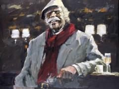 """Autumn Hawk at Il Pastaio"" giclee/canvas by Aldo Luongo"