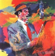 "Frank Sinatra ""Duets"" Serigraph by LeRoy Neiman"