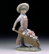 """Little Gardener"" Glazed Porcelain Figurine by Llardro"