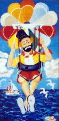 """""""The Sky's The Limit"""" Serigraph by Red Skelton"""