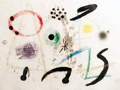 """""""Maravillas Con Variaciones Acristucas en el Jardin de Miro"""" 1975 Lithograph by Joan Miro"""