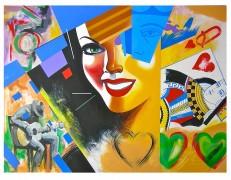 """""""Queen of Hearts"""" Original Acrylic on Canvas by Rick Garcia"""