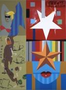"""Arrow Flecha"" Original Acrylic on Canvas by Rick Garcia"