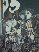 """""""Deux Enfants Assis"""" Lithograph by Pablo Picasso"""