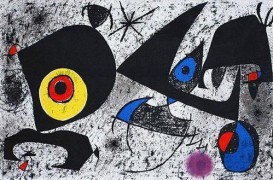 "Color Lithograph from ""Hommage a Joan Miro"" by Joan Miro"