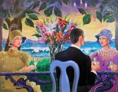 """""""Trio"""" Unique Mixed Media on Canvas by Otto Aguiar"""