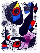 """Miro a l'eucre I""  1972 Color Lithograph by Joan Miro"