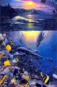 """""""Island Enchantment"""" Mixed Media Graphic with Remarque by Christian Riese Lassen"""