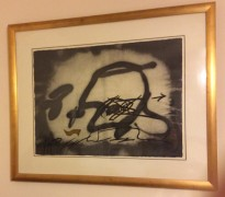 """Profil"" Etching with Carborundum by Antoni Tapies"