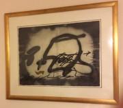 """Profil"" Etching with Carborundum by Antoni Tapies"