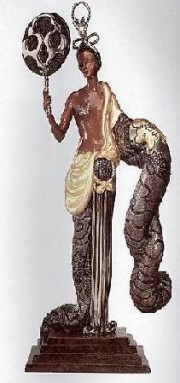 """""""Bamboo"""" Bronze Sculpture by Erte for sale"""