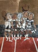 """Tennis"" Etching by Graciela Rodo Boulanger"