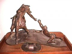 """Brother"" Bronze Sculpture by Bud Boller"