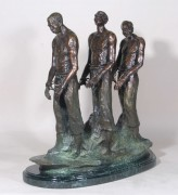 """Early Black Immigrants"" Bronze Sculpture by Ed Dwight"