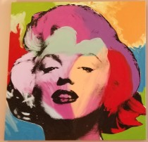 """Marilyn Series - Multicolored"" Embellished Mixed Media on Canvas by Steve Kaufman"