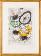 """La Chevelure de Berenice II"" 1963 Color Etching with Aquatint by Joan Miro"