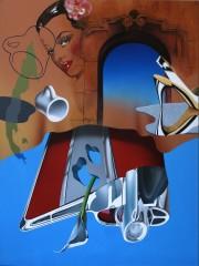 """57 Heaven"" Original Acrylic on Canvas by Rick Garcia"
