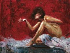 """Mistral"" Hand-Embellished Mixed Media on Canvas by Henry Asencio"