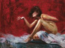 """""""Mistral"""" Hand-Embellished Mixed Media on Canvas by Henry Asencio"""