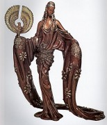 """Wisdom"" AP Bronze Sculpture by Erte"