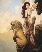 """The Last Lion"" Giclee on Canvas by Michael Parkes"