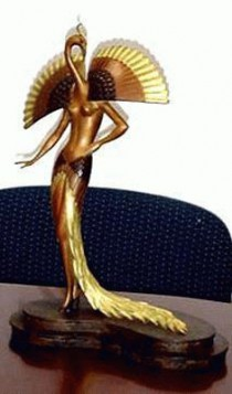 """Ibis"" (Bird Head) a Bronze Sculpture by Erte"