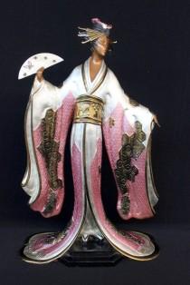 Madam Butterfly Bronze Sculpture by Erte