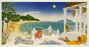 """Crescent Bay"" Serigraph by Thomas McKnight"