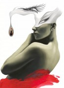 """Eye Drop"" Digital Print on Museum Quality Paper by Rick Garcia"