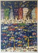 """""""Midnight in Manhattan"""" serigraph on paper by James Rizzi"""
