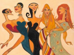 """Ladies Night"" Giclee on Canvas by Clifford Bailey"