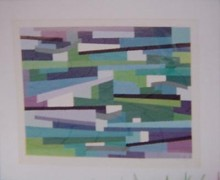 """Evening"" a Serigraph by Yaacov Agam"