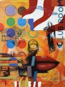 """""""Club Room"""" Original Acrylic on Canvas by Rick Garcia"""