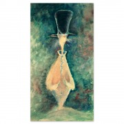 """""""Indistinct Cat With Cigar"""" Serigraph on Archival Canvas by Dr. Seuss"""