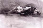 """Reclining Nude"" serigraph by Richard MacDonald"
