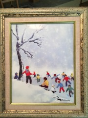 """Winter"" From the ""Four Seasons"" Porcelain prints by Max Karp"