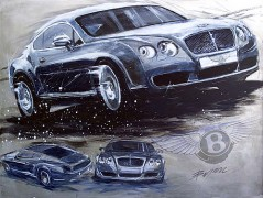 """Bentley (Continental)"" Giclee/Paper by Michael Bryan"