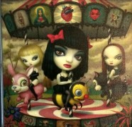 """CLEAR HEARTS, GREY FLOWERS"" Giclee on Canvas by Mark Ryden"