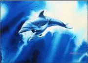 """Close Encounter"" Original Watercolor by Christian Riese Lassen"