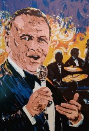 """""""Sinatra In Concert"""" Serigraph on Paper by Paul Blaine Henrie"""
