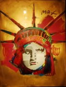 """Liberty"" Unique Acrylic/Serigraph by Peter Max"